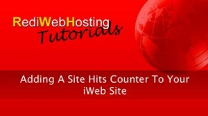 Adding A Hits Counter To Iweb Without MobileMe