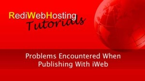 Problems When Publishing An iWeb Site