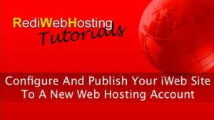 Publishing your iWeb Site to new web hosting