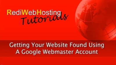Create A Google Webmaster Account