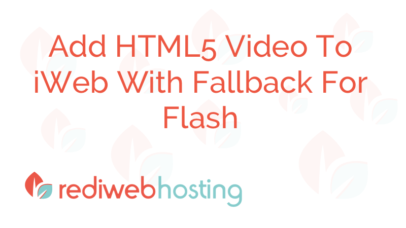 HTML5 Video Publishing With Iweb