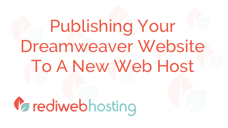 Publishing A Dreamweaver Website